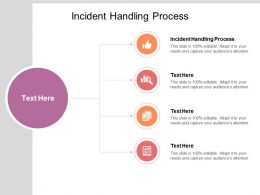Incident Handling Process Ppt Powerpoint Presentation Pictures Samples Cpb