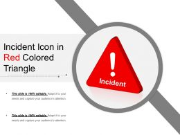 Incident Icon In Red Colored Triangle
