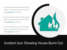 Incident Icon Showing House Burnt Out