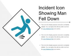 Incident Icon Showing Man Fell Down