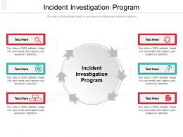 Incident Investigation Program Ppt Powerpoint Presentation Professional Slide Portrait Cpb