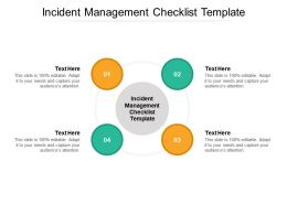 Incident Management Checklist Template Ppt Powerpoint Presentation Infographics Skills Cpb