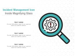 Incident Management Icon Inside Magnifying Glass