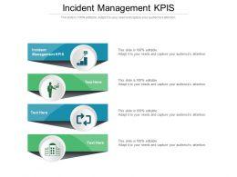 Incident Management Kpis Ppt Powerpoint Presentation File Elements Cpb