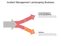 Incident Management Landscaping Business Ppt Powerpoint Presentation Slides Designs Download Cpb