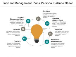 Incident Management Plans Personal Balance Sheet Workplace Health Wellness Cpb