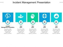 Incident Management Presentation Ppt Powerpoint Presentation Sample Cpb