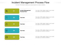 Incident Management Process Flow Ppt Powerpoint Presentation Inspiration Model Cpb