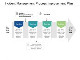 Incident Management Process Improvement Plan Ppt Powerpoint Presentation Ideas Shapes Cpb