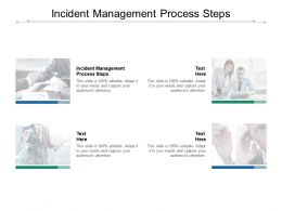Incident Management Process Steps Ppt Powerpoint Presentation Show Cpb
