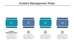 Incident Management Roles Ppt Powerpoint Presentation Infographic Template Template Cpb