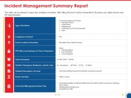 Incident Management Summary Report Ppt Powerpoint Presentation Inspiration