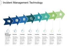 Incident Management Technology Ppt Powerpoint Presentation Ideas Cpb