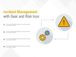 Incident Management With Gear And Risk Icon
