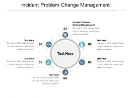Incident Problem Change Management Ppt Powerpoint Presentation Inspiration Background Cpb