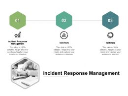 Incident Response Management Ppt Powerpoint Presentation Gallery Graphics Cpb