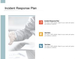 Incident Response Plan Ppt Powerpoint Presentation Ideas Maker Cpb