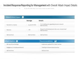 Incident Response Reporting For Management With Overall Attack Impact Details
