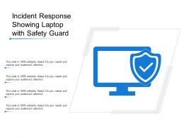 Incident Response Showing Laptop With Safety Guard