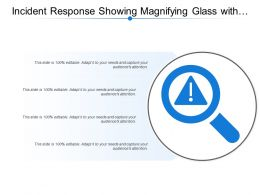 Incident Response Showing Magnifying Glass With Risk Sign