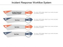 Incident Response Workflow System Ppt Powerpoint Presentation Show Format Ideas Cpb