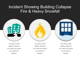 Incident Showing Building Collapse Fire And Heavy Snowfall