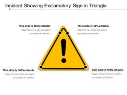Incident Showing Exclamatory Sign In Triangle