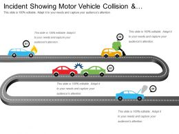 Incident Showing Motor Vehicle Collision And Emergency Information