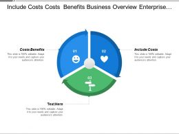 Include Costs Costs Benefits Business Overview Enterprise Reporting