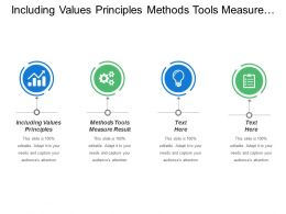 Including Values Principles Methods Tools Measure Results Strategy Discussions