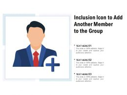 Inclusion Icon To Add Another Member To The Group