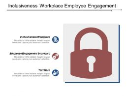 Inclusiveness Workplace Employee Engagement Scorecard Marketing Budget Management Cpb