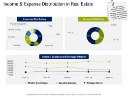 Income And Expense Distribution In Real Estate Commercial Real Estate Property Management Ppt Tips