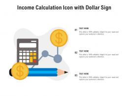 Income Calculation Icon With Dollar Sign