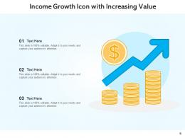Income Distribution Sources Coins Dollar Calculation Growth Increasing Arrow