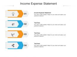 Income Expense Statement Ppt Powerpoint Presentation Gallery Professional Cpb