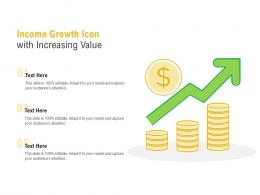 Income Growth Icon With Increasing Value