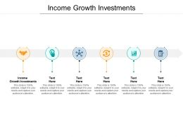 Income Growth Investments Ppt Powerpoint Presentation Design Inspiration Cpb