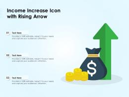 Income Increase Icon With Rising Arrow