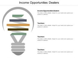 Income Opportunities Dealers Ppt Powerpoint Presentation Infographic Template Template Cpb