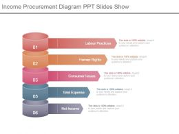 Income Procurement Diagram Ppt Slides Show