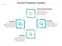 Income Protection Quotes Ppt Powerpoint Presentation Icon Designs Cpb