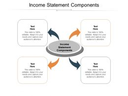 Income Statement Components Ppt Powerpoint Presentation Layouts Design Templates Cpb