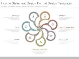 Income Statement Design Format Design Templates