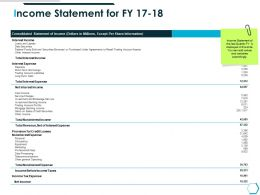 Income Statement For Fy 17 18 Tax Expense Ppt Powerpoint Presentation Influencers