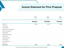Income Statement For Price Proposal Ppt Powerpoint Presentation Layouts Files