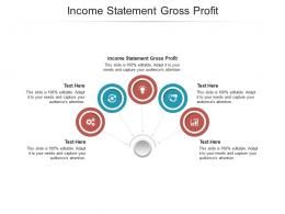 Income Statement Gross Profit Ppt Powerpoint Presentation Model Deck Cpb