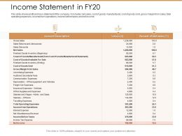 Income Statement In Fy20 Ppt Powerpoint Presentation Model Summary