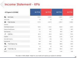 Income Statement KPIs Strategy Ppt Pictures Design Ideas