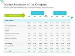 Income Statement Of The Company Promotior Ppt Powerpoint Presentation Pictures Microsoft